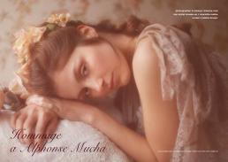 lace and chiffon cape // anne valerie hash | silk dress // vivienne mok | flower crown // stylist own
